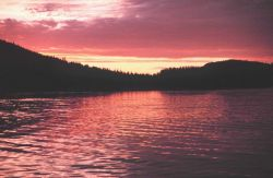 Sunset in the Inside Passage Photo