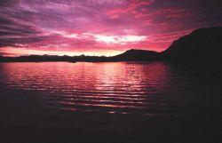 An Alaskan sunset. Photo