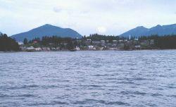 Tlingit Indian village - Angoon - on the west coast of Admiralty Island Photo