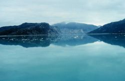A scoured valley - now an inlet in Glacier Bay. Photo