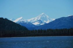 Upper reaches of Glacier Bay - looking at Mt Photo