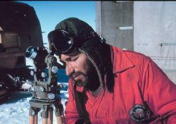 Herb Meyers observing sun azimuth for position information Photo