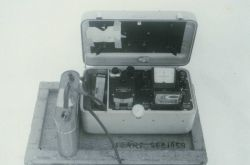 Instrument, possibly part of instrument package used to measure thickness of ice Photo