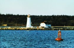 The lighthouse at the entrance to Halifax Harbor. Photo