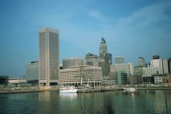 View of downtown Baltimore from the Inner Harbor area Photo