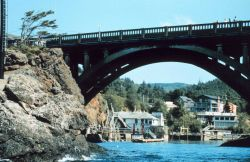 Entrance to Depoe Bay, known as the