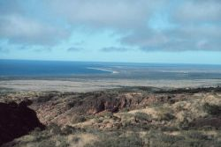 Looking southeast towards the Gulf of Exmouth and the Learmonth Observatory from the Charles Knife Road. Photo