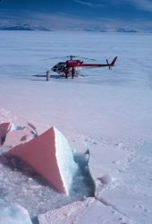 Helicopter resupply of the NATHANIEL B Photo