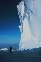 The Ross Ice Shelf at the Bay of Whales - the point where Amundsen staged his successful assault on the South Pole Photo