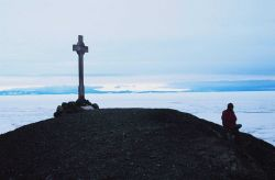 Vince's Cross at Hut Point Peninsula, McMurdo Station, Antarctica Photo