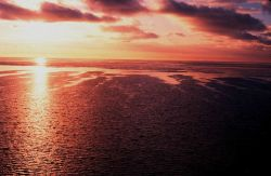 Sunset over the Ross Sea. Photo