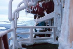Ice on the super structure of the NATHANIEL B Photo