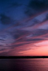 Sunset at sea south of Nantucket Photo