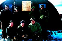 The engineers who built the Marble Point landing strip - the first ground strip in Antartica Photo