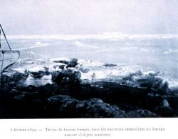 Sea ice beginning to freeze together on February 5, 1899 Photo