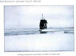 LA BELGICA in open water on March 5, 1898 Photo