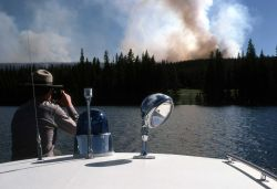 Continental Divide fire, boat watch Photo