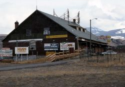 Cecil's Fine Foods restaurant in Gardiner, Montana (building designed by Robert Reamer) Photo