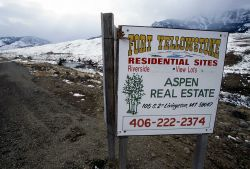 Encroaching development near Gardiner, Montana Photo