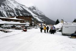 Cooke City, Montana in the winter Photo