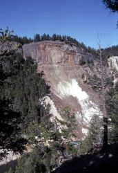 Bumpus Butte after spring 2001 rock slide - Geology Photo