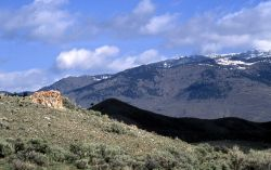 Dude Hill in shadow - thermal kame - as seen from Tower Road - Geology - Glacial Photo