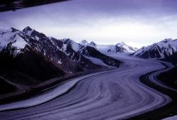 Aerial view of Kaskawulsh Glacier, Yukon Territory - Geology - Glacial Photo