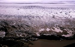 Aerial view of the edge of the Greenland ice sheet - Geology - Glacial Photo