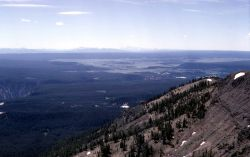 View of Central Plateau (caldera) from Mt Washburn Photo