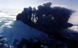 March 3, 1980 eruption of ash, Mt St Helens - Volcanics Photo