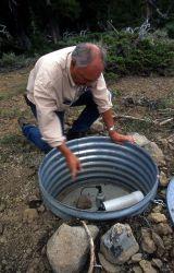 Dr Robert Smith at Lake Butte seismograph Photo