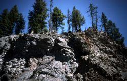 Igneous Rock on the Firehole Canyon Drive Photo