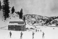 Winter 1887 Haynes expedition, Yancey's Hole Photo