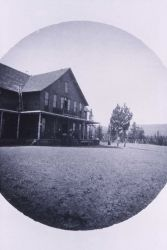 Two story frame hotel at Upper Geyser Basin Photo