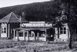 Geyser Baths bathhouse (later known as The Plunge) at Upper Geyser Basin Photo