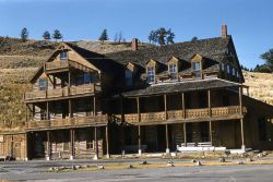 Cottage Hotel, Mammoth Hot Springs, built in 1885 Photo