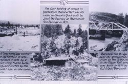 Haynes photos showing McCartney's Hotel, Barronett's Toll Bridge (built 1871) & tent hotel at Old Faithful 1883 Photo