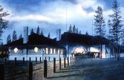 Oregon Short Line depot in West Yellowstone, Montana Photo
