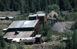 Abandoned gold mine in Jardine, Montana - dates back to the 1890's Photo