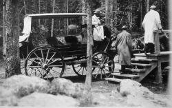 Empty stagecoach Photo