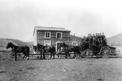 Stagecoach at Yancy's Hotel Photo
