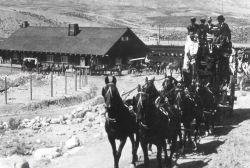 Stagecoach at Gardiner Train Depot Photo