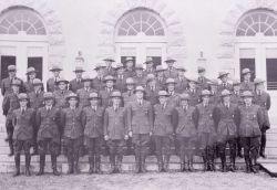 Group of Rangers in front of Mammoth Post Office Photo