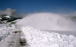 Snowplowing Swan Lake Flats Photo