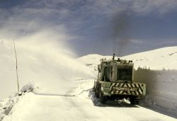 Snowplowing the Beartooth Highway Photo