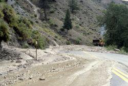 Mud slide in the Gardner River Canyon Photo