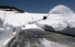 Rotary snowplow opening the Beartooth Highway Photo