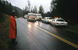 Automobile accident near Undine Falls Photo