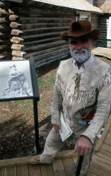 Lee Whittlesey as PW Norris at the dedication of the Museum of the National Park Ranger Photo