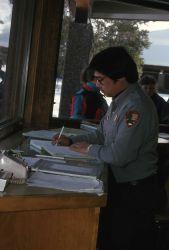 Ranger Dan Ng at Old Faithful Visitor Center Photo